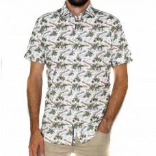 James Harper Short Sleeve Hawaiian Holiday Shirt -Front