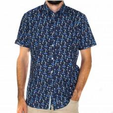 James Harper Short Sleeve Leunig Boat Shirt -Front