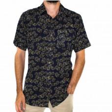 Lifestyle Short Sleeve Bamboo Land Olive Leaf Shirt