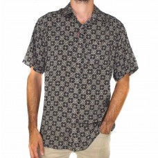 Lifestyle Short Sleeve Bamboo Land Flower Shirt-FRONT