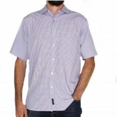 Cipollini Short Sleeve Bamboo Check Shirt-Front