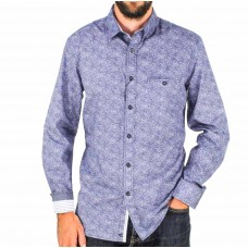 Cutler & Co Cadet Spot Cotton Long Sleeve Shirt Front