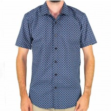 Valour Geometric Black Short Sleeve Shirt Front