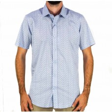 Valour Star Blue Short Sleeve Shirt Front