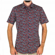 Valour Floral Black Short Sleeve Shirt