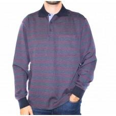 Breakaway Long Sleeve Lars Stripe Polo-Front