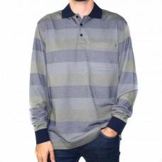 Breakaway Long Sleeve Destry Micro Stripe Polo-Front