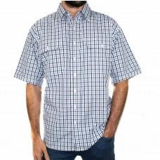 Bisley Small Check Blue Short Sleeve Shirt-FRONT