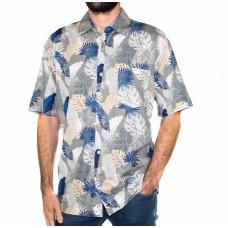 Kingston Grange Short Sleeve Seasons Bamboo Shirt-Front