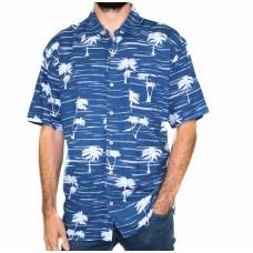 Kingston Grange Short Sleeve Pacific Breeze Bamboo Shirt-Front