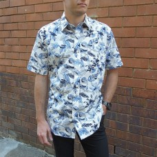 Bridgeport Club Short Sleeve Blue Lily Shirt
