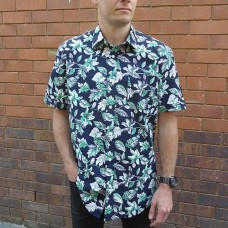 Bridgeport Club Short Sleeve Mint Lily Shirt