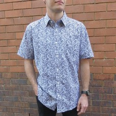 Bridgeport Club Short Sleeve Blue Vine Shirt