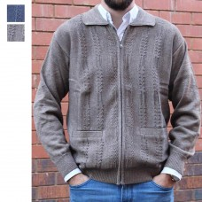 Anset Acrylic Wool Cardigan Coffee Thumbnail