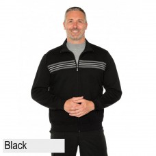 Breakaway Cam Snowy Mt Fleece Jacket Black Front