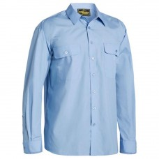 Bisley Long Sleeve Easy Care Shirt -Front