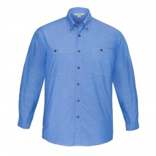 Biz Collection Long Sleeve Chambray Shirt -Front