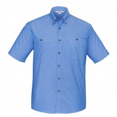 Biz Collection Short Sleeve Wrinkle Free Chambray-Front