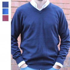 Bridge and Lord Merino Cashmere Pullover Navy Thumbnail