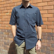 Perrone Navy Ted Short Sleeve Shirt