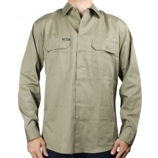 Bisley Mens Cool Light Weight Drill Long Sleeve Shirt