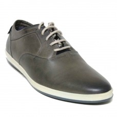 Cenzoni Grey Leather Shoe