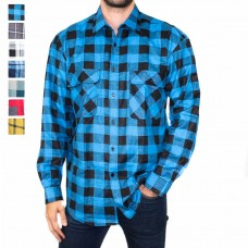 Ritemate Long Sleeve Open Front Flannelette Shirt