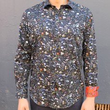 David Smith Storm Print Long Sleeve Shirt