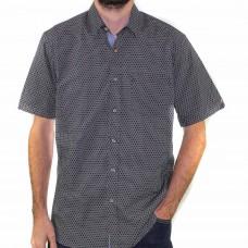 Stafford Ellinson Short Sleeve Geo Print Shirt Front