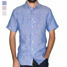 Abelard Short Sleeve Linen Shirt-Hero