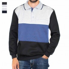 Pilgrim Clothing Company 3 Buttoned Rugby Cut & Sew Panelling -Hero