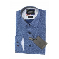 Brooksfield Long sleeve Luxe Paisley Print Shirt Front