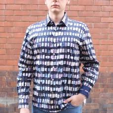 John Lennon By English Laundry Long Sleeve Brighton Print Shirt