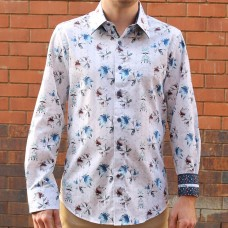 John Lennon By English Laundry Long Sleeve Portland Print Shirt