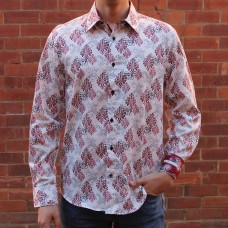 John Lennon By English Laundry Long Sleeve Cooper Print Shirt