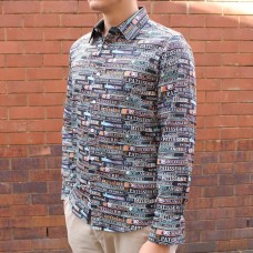 John Lennon By English Laundry Long Sleeve Patisserie Print Shirt