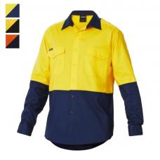 King Gee Workcool 2 Hi-Vis Spliced Long Sleeve Shirt