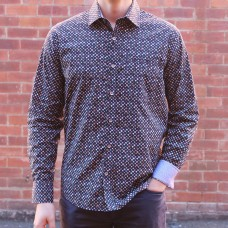 Berlin Gem Print Long Sleeve Shirt