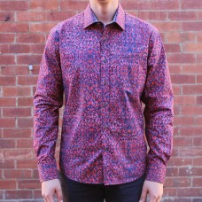 Berlin Wallpaper Print Long Sleeve Shirt Front