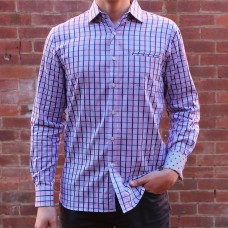 Berlin Check Print Long Sleeve Shirt Front