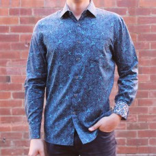 Berlin Swirl Print Long Sleeve Shirt Front