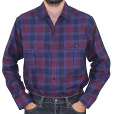 Gloster Long Sleeve 2PKT Check Shirt Navy