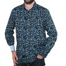 Berlin Long Sleeve Floral Shirt-Side