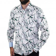 Berlin Long Sleeve Leaf Print Shirt