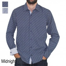 Scoop Long Sleeve Printed Shirt Midnight