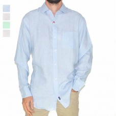 Michael Rouen Long Sleeve Linen Shirts-Hero