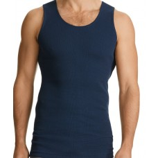 Bonds Navy Chesty Singlet-front