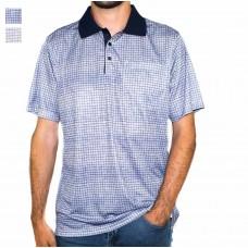 Maurio Short Sleeve Cotton Polyester Check Polo-Hero