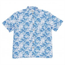 Kingston Grange Blue Fern Bamboo Shirt