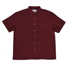 Kingston Grange Plain Maroon Bamboo Shirt